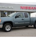 gmc sierra 1500 2008 metallic teal pickup truck sle1 gasoline 8 cylinders 2 wheel drive 5 speed with overdrive 76502