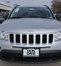 jeep compass 2012 silver suv latitude gasoline 4 cylinders 2 wheel drive automatic 76011