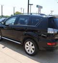 mitsubishi outlander 2012 black suv se gasoline 4 cylinders front wheel drive automatic with overdrive 75062