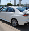 mitsubishi lancer evolution 2012 white sedan gsr gasoline 4 cylinders all whee drive 5 speed manual 75062