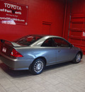 honda civic 2005 dk  gray coupe ex gasoline 4 cylinders front wheel drive automatic 76116