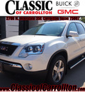 gmc acadia 2012 white suv slt 1 gasoline 6 cylinders front wheel drive automatic 75007