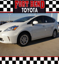 toyota prius v 2012 white wagon three hybrid 4 cylinders front wheel drive automatic 77469