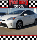 toyota prius v 2012 white wagon five hybrid 4 cylinders front wheel drive automatic 77469