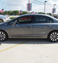 honda civic 2009 gray sedan ex gasoline 4 cylinders front wheel drive automatic 78130