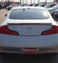 infiniti g35 2007 silver coupe gasoline 6 cylinders rear wheel drive automatic 77388