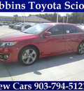 toyota camry 2012 red sedan se sport limited edition gasoline 4 cylinders front wheel drive automatic 75569