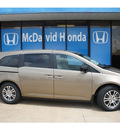 honda odyssey 2012 beige van ex l gasoline 6 cylinders front wheel drive automatic 77034