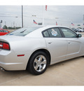 dodge charger 2012 silver sedan se gasoline 6 cylinders rear wheel drive automatic 77034