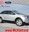 ford edge 2013 silver suv sel gasoline 6 cylinders front wheel drive shiftable automatic 77539