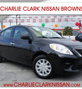 nissan versa 2013 black sedan 1 6 sv gasoline 4 cylinders front wheel drive automatic 78520