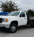 gmc sierra 3500hd cc 2013 summit white work truck diesel 8 cylinders 4 wheel drive allison 76206