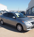 nissan versa 2013 dk  gray sedan 1 6 sv gasoline 4 cylinders front wheel drive automatic 76116
