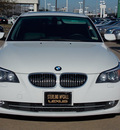bmw 5 series 2008 white sedan 535i gasoline 6 cylinders rear wheel drive shiftable automatic 77074