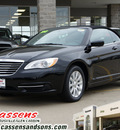 chrysler 200 convertible 2013 black touring flex fuel 6 cylinders front wheel drive automatic 62034
