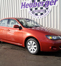 subaru impreza 2009 orange sedan 2 5i gasoline 4 cylinders all whee drive automatic 80905