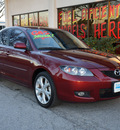 mazda mazda3 2009 dk  red sedan i touring value gasoline 4 cylinders front wheel drive 5 speed manual 75080