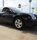 ford fusion 2009 black sedan se gasoline 4 cylinders front wheel drive automatic 77521