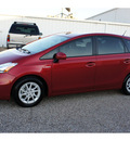 toyota prius v 2012 red wagon five hybrid 4 cylinders front wheel drive automatic 76505