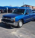 chevrolet silverado 1500 2003 blue pickup truck ls gasoline 8 cylinders rear wheel drive automatic 76234