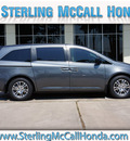 honda odyssey 2012 dk  gray van ex l w dvd gasoline 6 cylinders front wheel drive automatic 77339