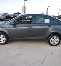 chevrolet sonic 2013 dk  gray sedan ls auto gasoline 4 cylinders front wheel drive automatic 78155