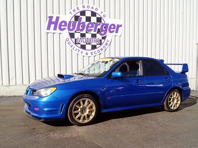 subaru impreza wrx sti 2006 wr blue sedan gasoline 4 cylinders all whee drive manual 80905