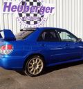 subaru impreza wrx sti 2006 wr blue sedan gasoline 4 cylinders all whee drive manual 80905