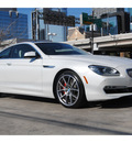 bmw 6 series 2012 white coupe 650i gasoline 8 cylinders rear wheel drive automatic 77002