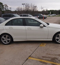 mercedes benz c class 2011 white sedan c300 luxury gasoline 6 cylinders rear wheel drive automatic 77090