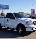 ford f 150 2007 white stx gasoline 8 cylinders 4 wheel drive 4 speed automatic 76210