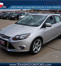 ford focus 2013 silver hatchback titanium flex fuel 4 cylinders front wheel drive automatic 76108