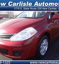 nissan versa 2011 maroon sedan gasoline 4 cylinders front wheel drive automatic 45344
