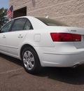 hyundai sonata 2009 white sedan gls v6 gasoline 6 cylinders front wheel drive shiftable automatic 80504