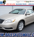 chrysler 200 convertible 2013 cashmere pearl touring gasoline 4 cylinders front wheel drive shiftable automatic 47130