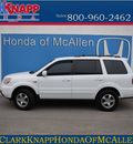honda pilot 2008 white suv ex gasoline 6 cylinders front wheel drive automatic 78505