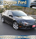 ford fusion 2012 black sedan sport gasoline 6 cylinders front wheel drive shiftable automatic 78501