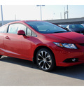 honda civic 2013 red coupe si navi gasoline 4 cylinders front wheel drive manual 77025