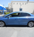 honda civic 2009 blue sedan ex gasoline 4 cylinders front wheel drive automatic 79936