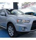 mitsubishi outlander 2012 silver suv gt gasoline 6 cylinders front wheel drive automatic 77094