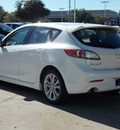 mazda mazda3 2011 white hatchback s sport gasoline 4 cylinders front wheel drive shiftable automatic 77074