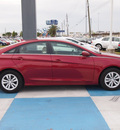 hyundai sonata 2012 dk  red sedan gls gasoline 4 cylinders front wheel drive automatic 77094