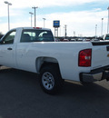chevrolet silverado 1500 2013 white work truck flex fuel 8 cylinders 2 wheel drive automatic 78009