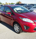 ford fiesta 2013 red sedan se gasoline 4 cylinders front wheel drive automatic 77074