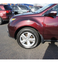 acura mdx 2010 dark cherry suv dvd gasoline 6 cylinders all whee drive shiftable automatic 07712
