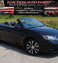 chrysler 200 convertible 2011 black s flex fuel 6 cylinders front wheel drive automatic 44024
