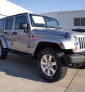 jeep wrangler unlimited 2013 silver suv sahara gasoline 6 cylinders 4 wheel drive automatic 76210