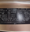 kia sedona 2009 gold van lx gasoline 6 cylinders front wheel drive automatic 76108