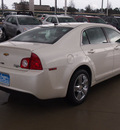 chevrolet malibu 2010 white sedan lt diamond edition gasoline 4 cylinders front wheel drive automatic 77304