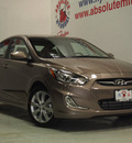hyundai accent 2013 brown sedan gls gasoline 4 cylinders front wheel drive not specified 75150